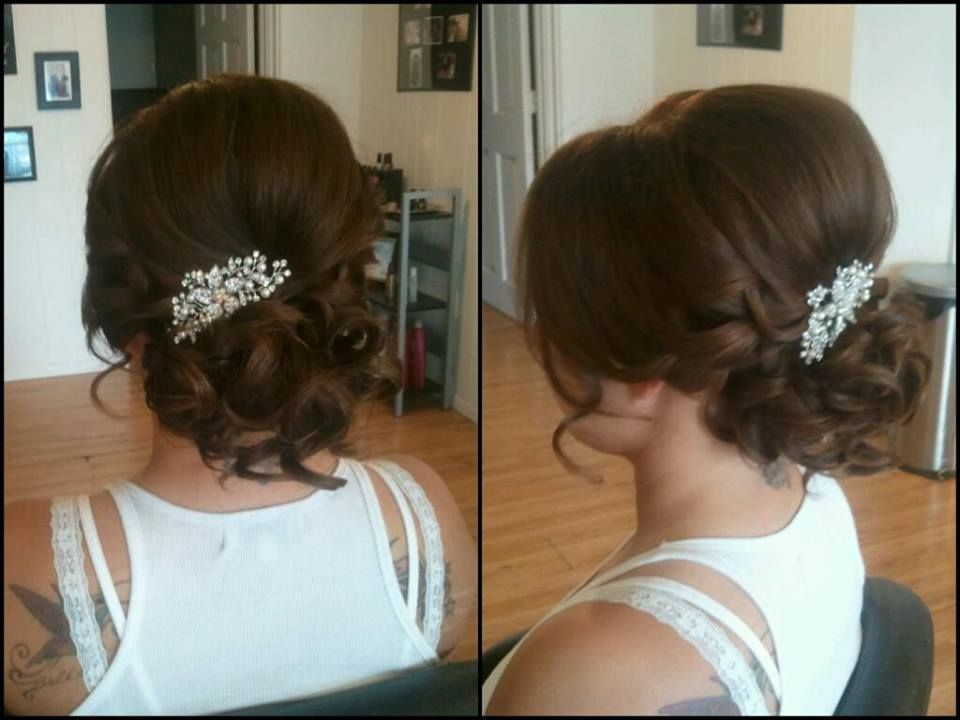 Bridal Hair Low Updo Good Sized Piece In This One