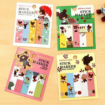 Celebrity Color Will Be Random Cartoon Illustration Style Paper Stickers Tape www.asujewelry.com