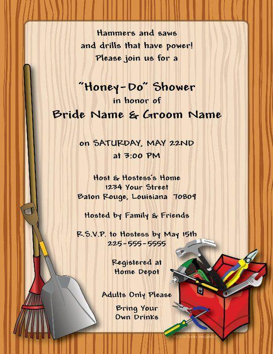 Honey Do Shower Invitations Google Search Pinteres