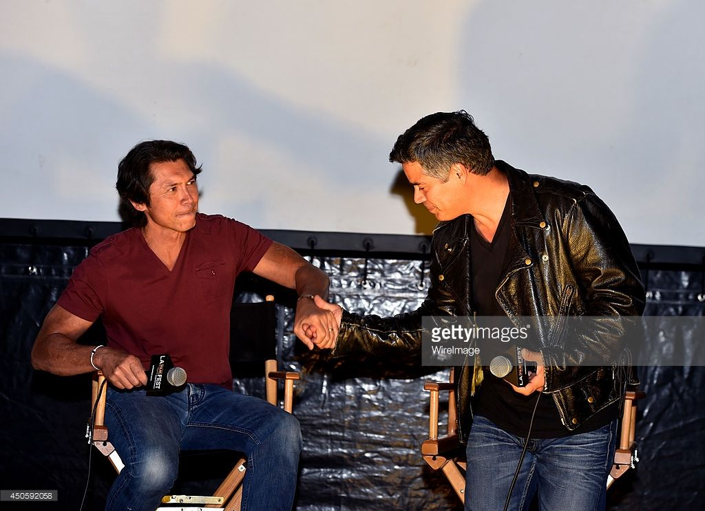 Actors Lou Diamond Phillips (L) and Esai Morales attend the special screening of 'La Bamba' during the 2014 Los Angeles Film Festival at Union Station on June 13, 2014 in Los Angeles, California.