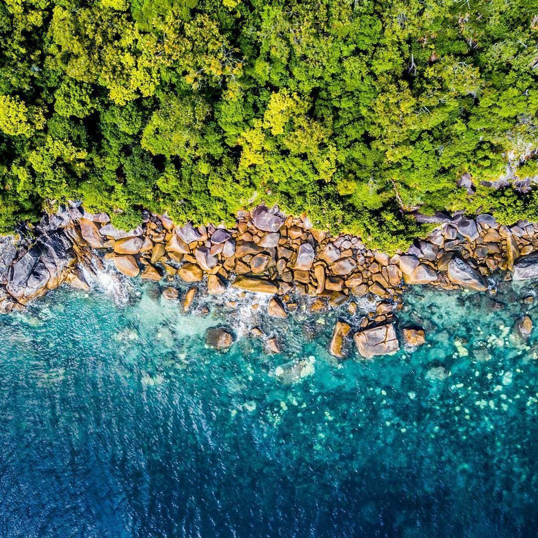 Fitzroy Island Queensland: Taken Above Fitzroy Island In Northern Queensland