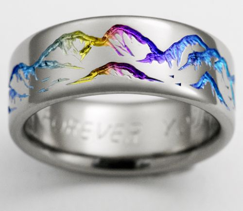 find this pin and more on exotica jewelry titanium wedding rings by ringsforever - Rainbow Wedding Rings