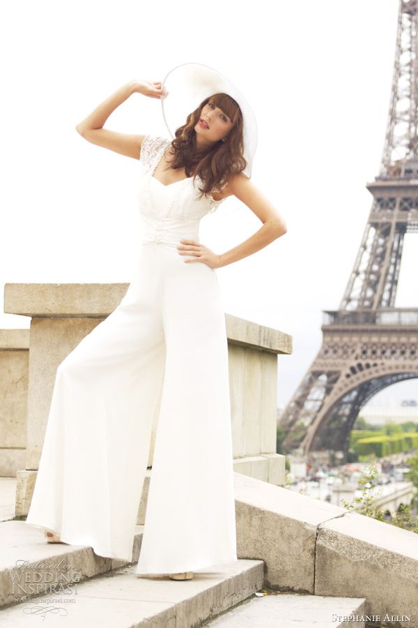 Bridal Jumpsuits: All the Rage in 2014 | Bridal jumpsuit, Wedding ...