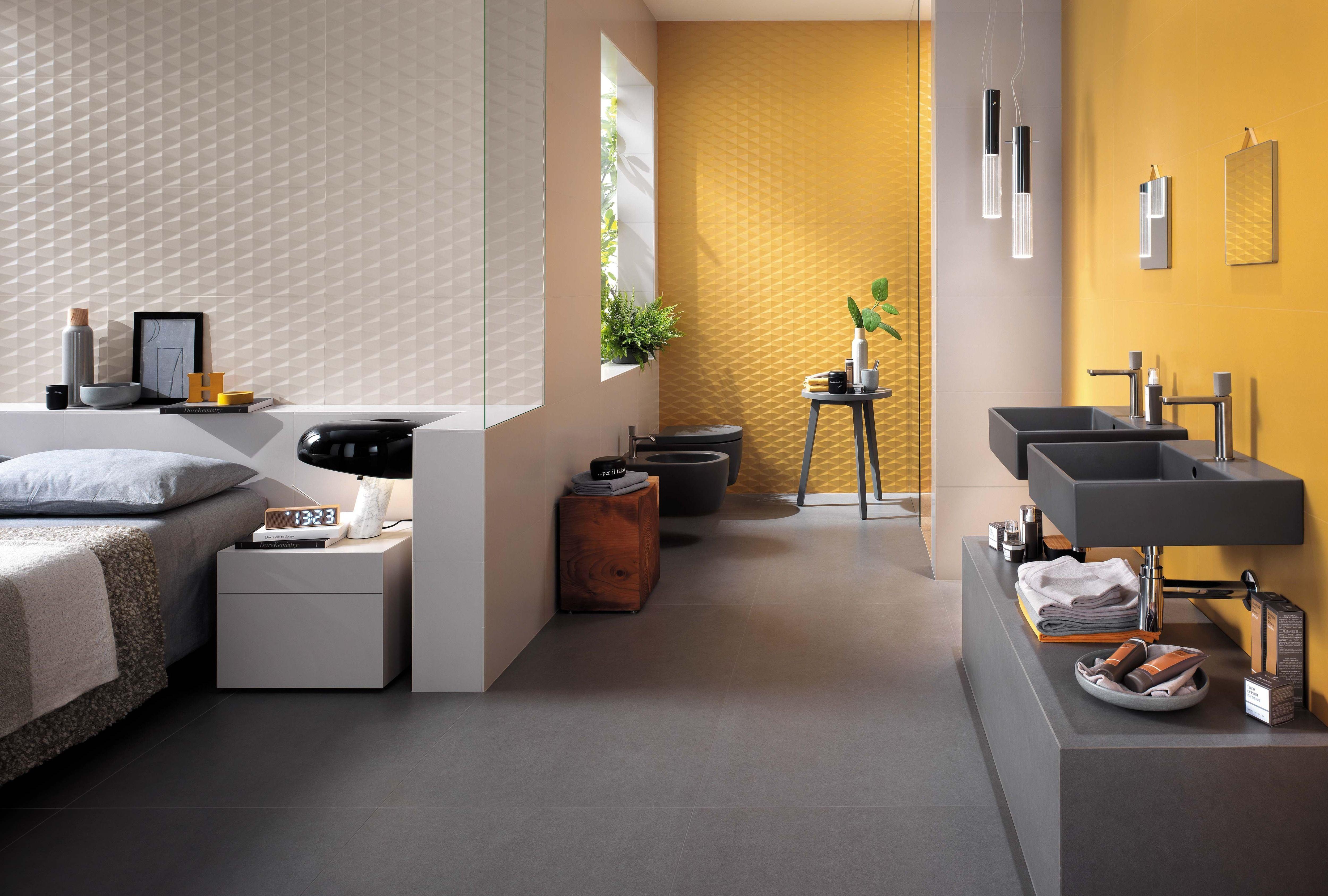 Carrelage et faïence pour chambre à coucher | Revetement salle de bain, Carrelage imitation bois ...