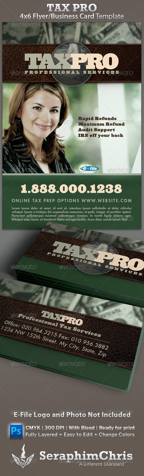 Tax Pro Flyer And Business Card Template Card Templates Business