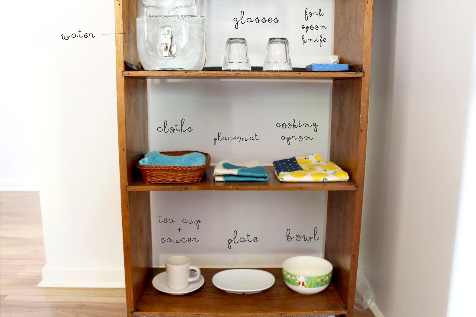 Kitchen Shelf Belle And Beau Montessori Beaus Montessori Kitchen Shelf