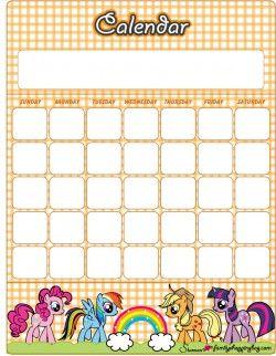 Printable My Little Pony Calendars