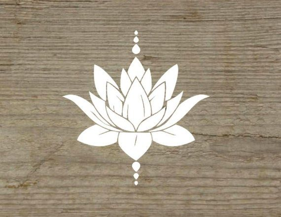 Lotus flower, Lotus flower decal, Meditation decal, Yoga decal, Natural, Lotus decal, Mandala Decal, Car decal, Yoga inspired, Lotus sticker