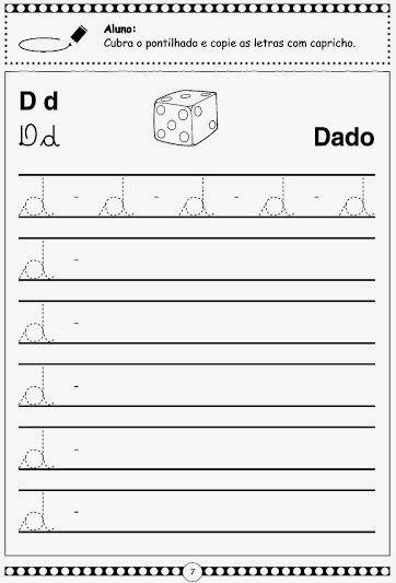 Espaco Saber Infantil Alfabeto Pontilhado Em Letra Cursiva Com