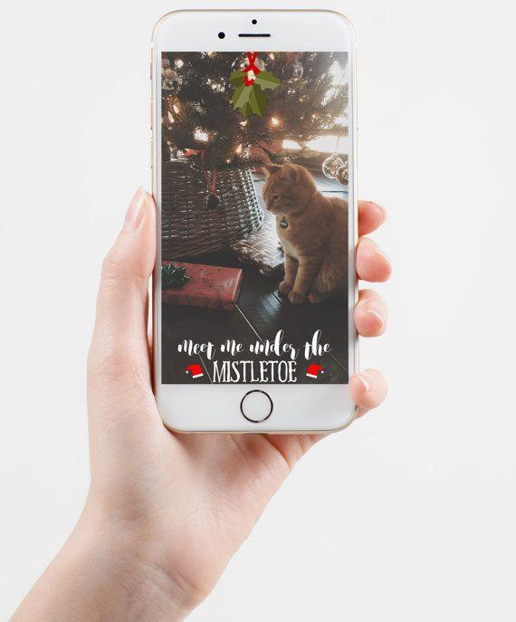 Mistletoe Christmas Party Snapchat Geofilter Customizable Meet Me Under The Mistletoe