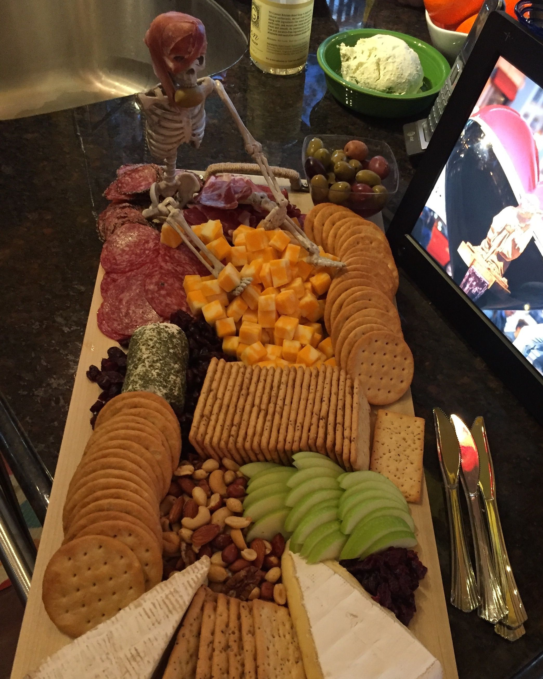 My Halloween Meat & Cheese platter!