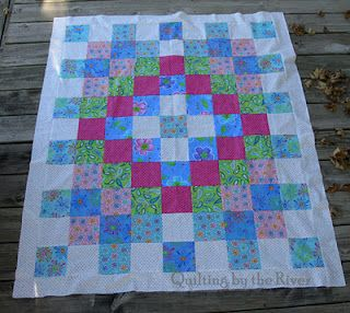 Quilting by the River: Worldly Lil Twister quilt