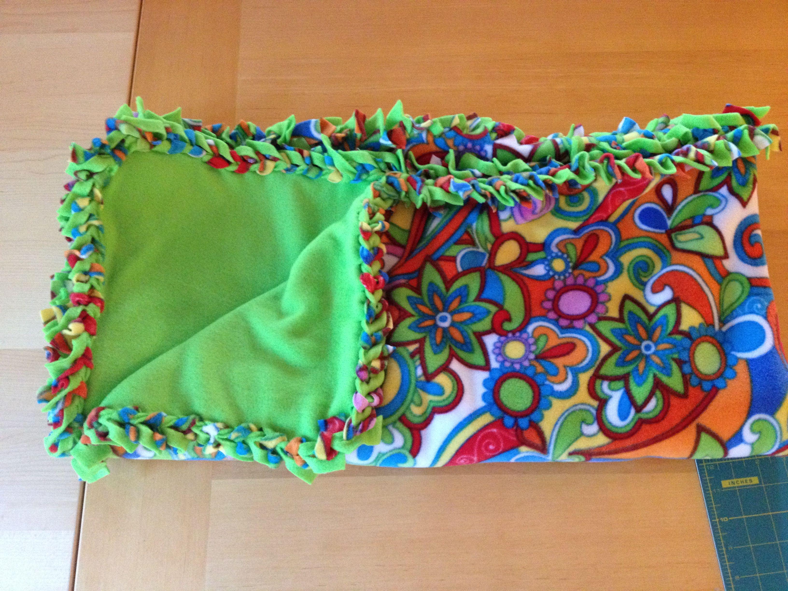 No Sew Fleece Blanket For Project Linus Craft Pinterest