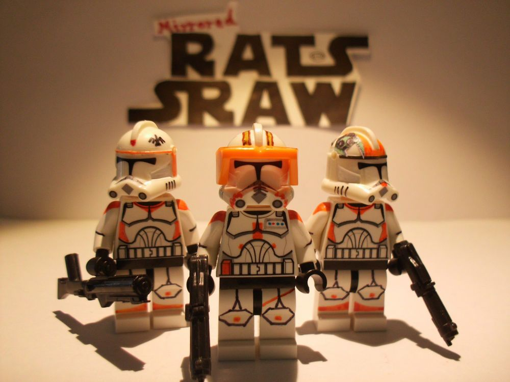 Lego Star Wars minifigures - Clone Custom Comdr Cody, Trprs Waxer ...