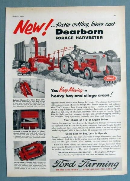 Dearborn Forage Harvester Ford Tough Tractor