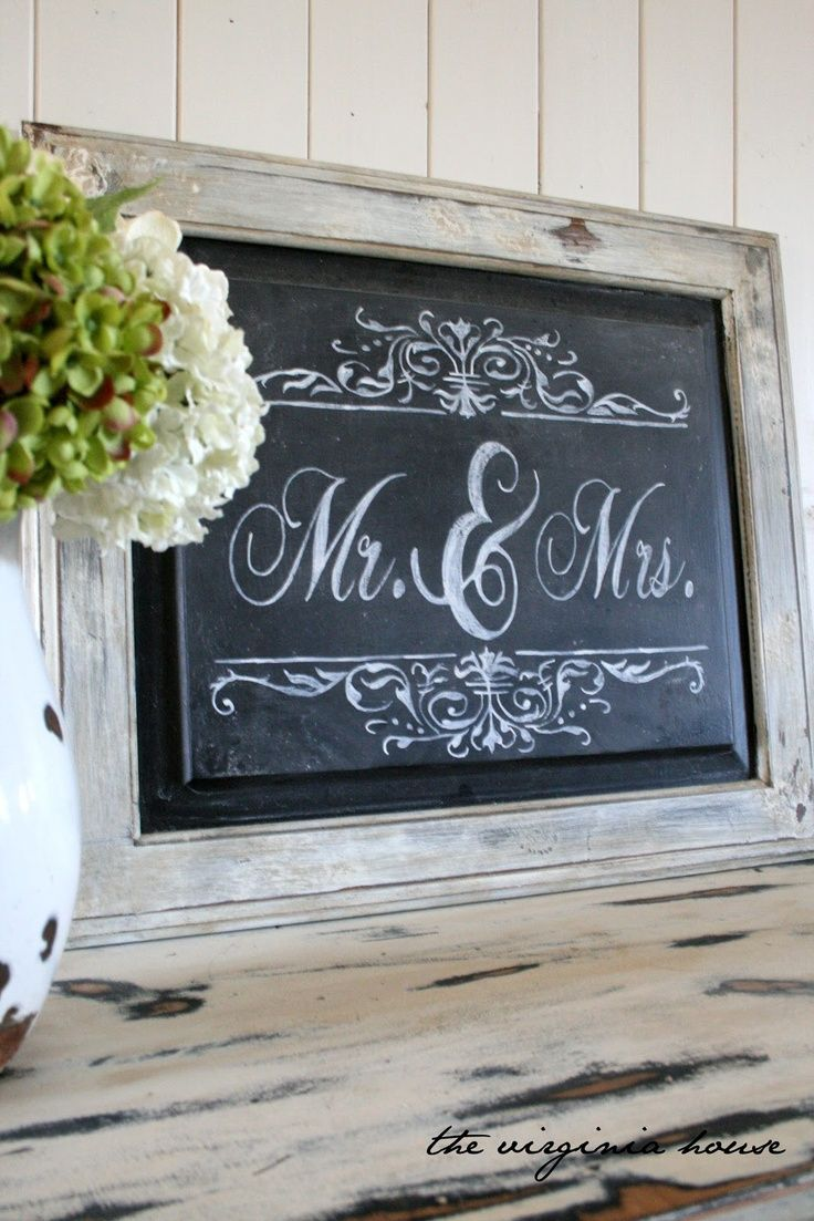 Wedding Decor Signs Gorgeous Diy Projekt Kreidetafel  Drawersdoors  Pinterest  Repurposed Design Inspiration