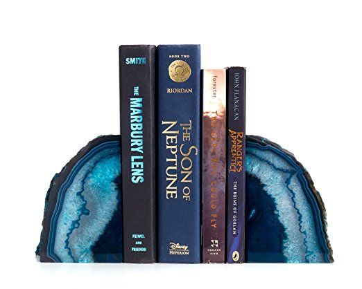 Amazon.com: Decorative Bookends. Geode Agate Book Ends For Office Décor And  Home