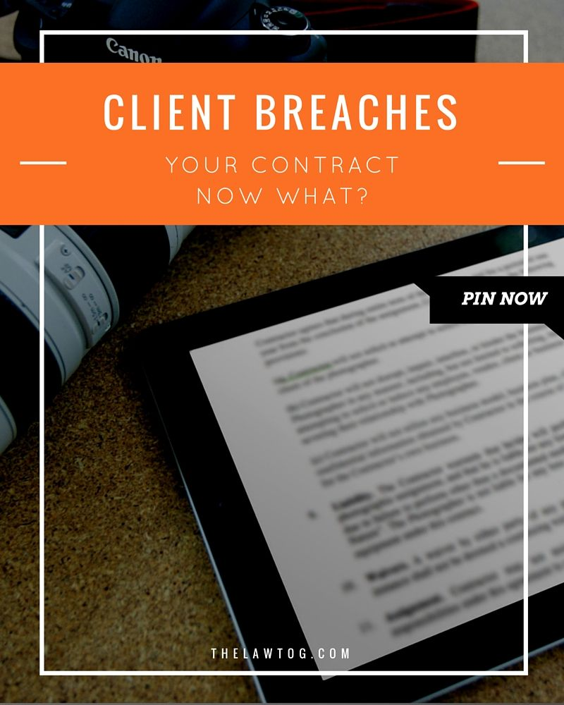 Client breaches photography contract now what from