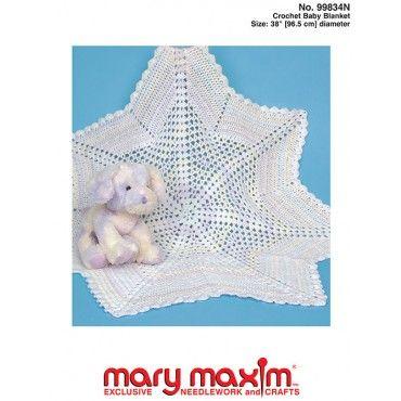 Crochet Baby Blanket Pattern | MARY MAXIM | Baby blanket crochet