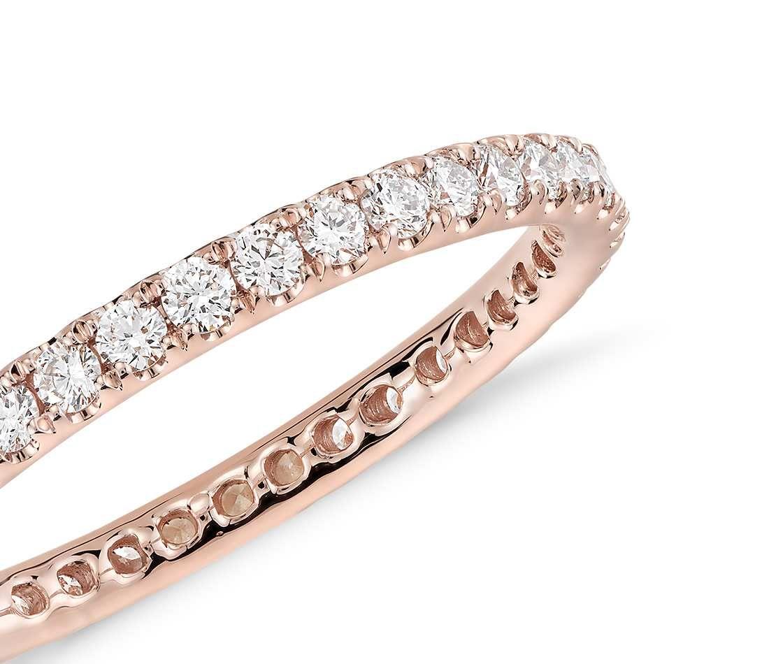 a5239d0cefd9 Riviera Pavé Diamond Eternity Ring in 14k Rose Gold (1 2 ct. tw ...