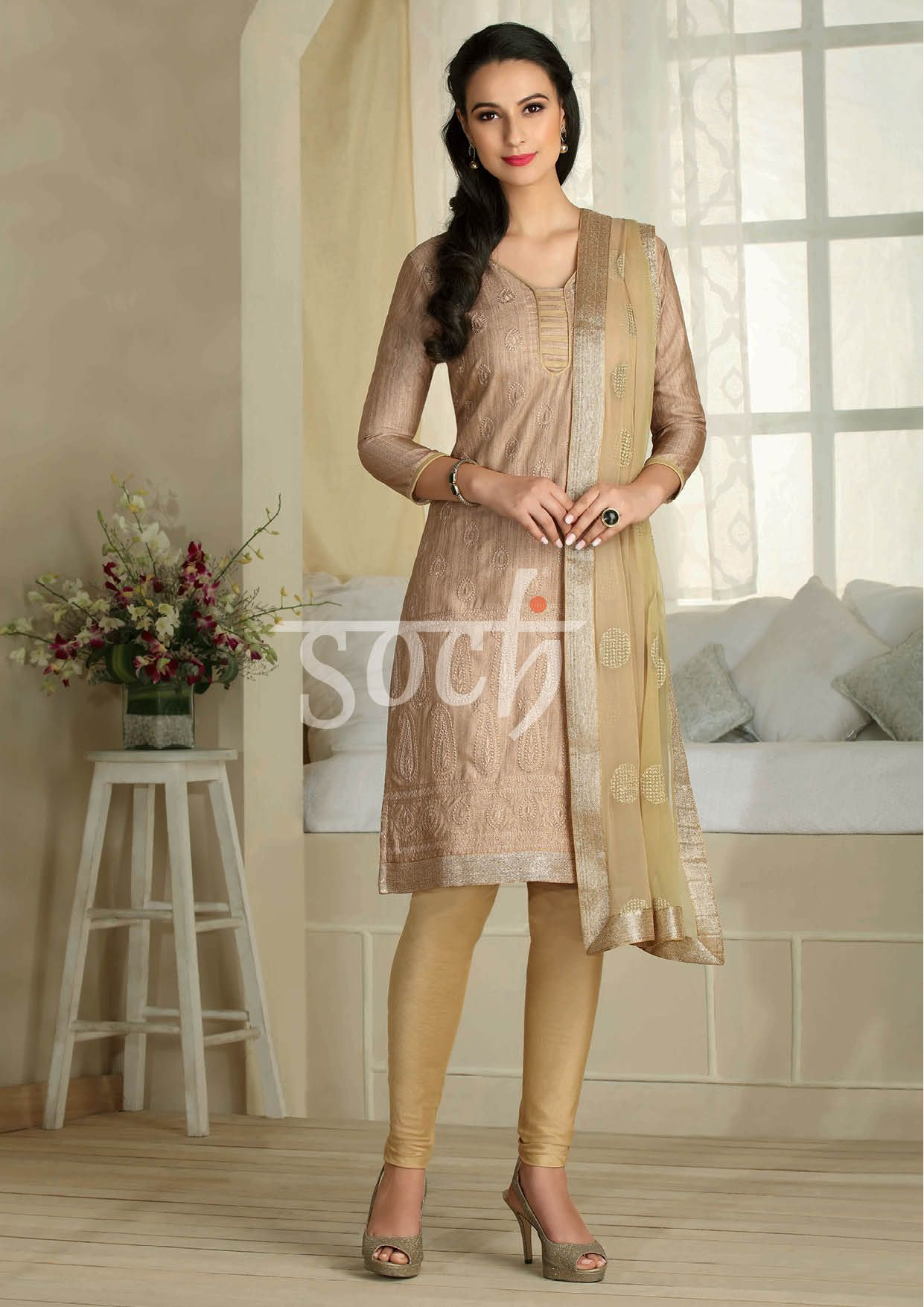 db49fd5d3d Classy #Soch dress materials ready to stitch and wear #Cuttoyourstyle