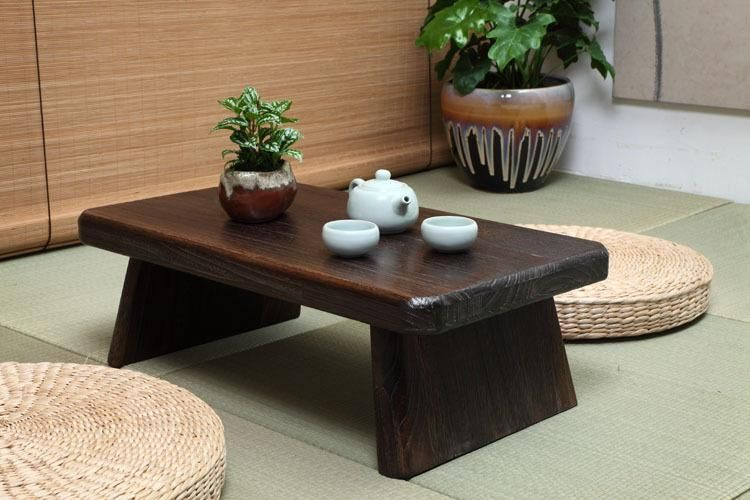 Furniture Japanese Style Antique Solid Wood Tea Table Tatami Small Coffee Table Solid Paulownia Wood Furniture Living Room Low Tea Table Fashionable And Attractive Packages