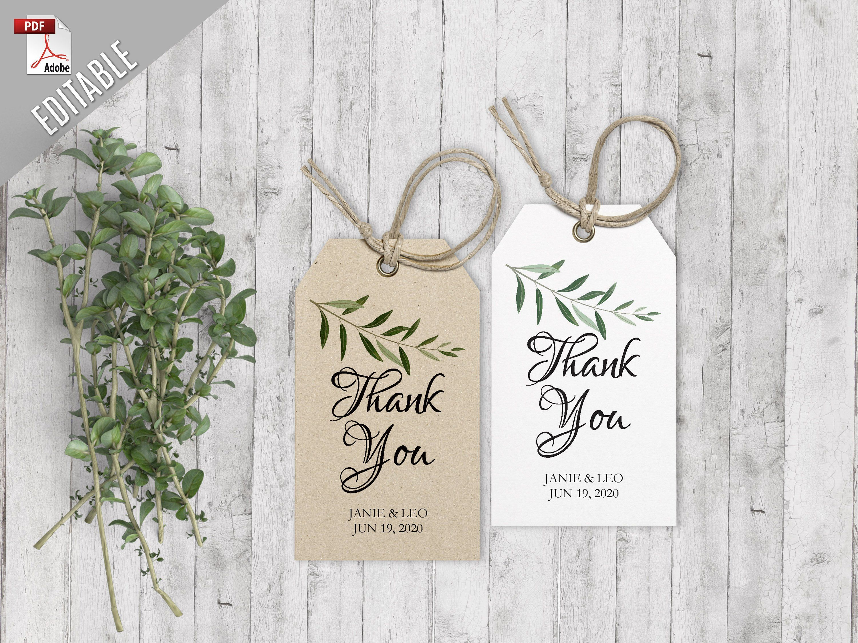 EC-121 Custom Wedding Favor Tags Customized Wedding Tags Thank You Wedding Tags Thank You Tags
