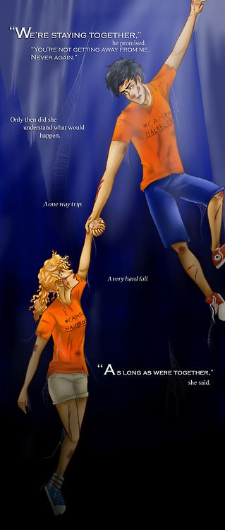 I really cried during this part. and screamed. and threw my book. But the only thing I find disturbing about this image is that Annabeth is missing most of her leg... Is that supposed to happen?
