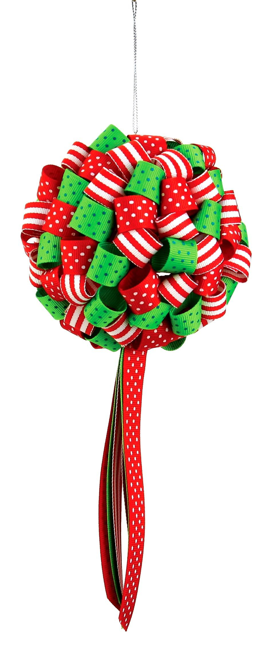 Nicole™ Crafts Ribbon Ornament #ornaments #craft #christmas #ribboncrafts