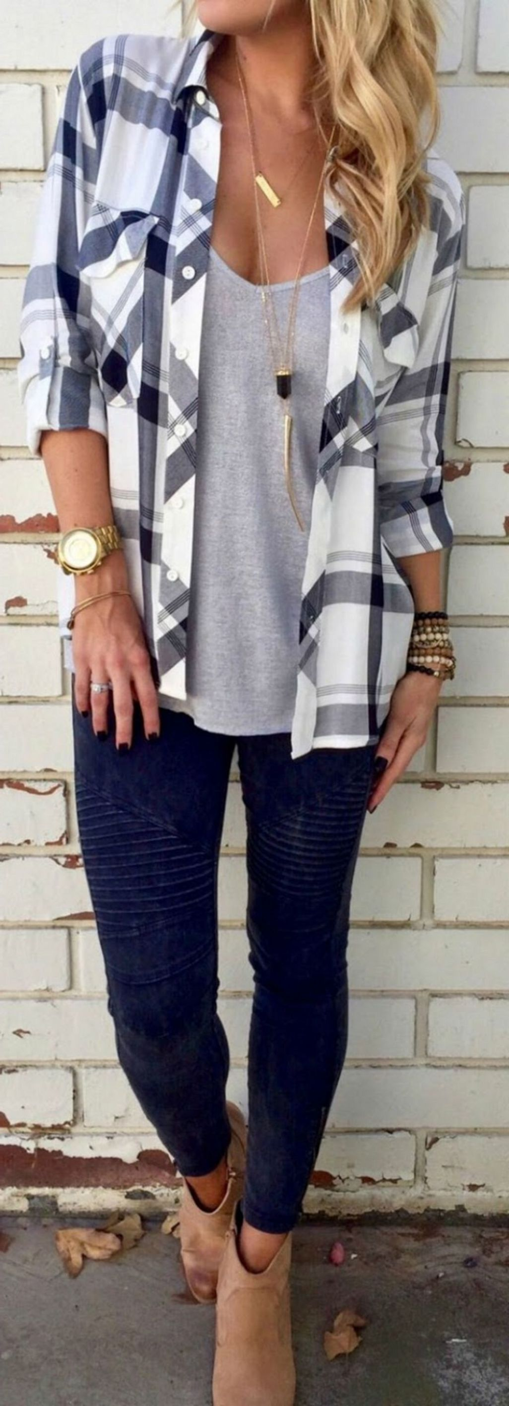 2019 year for women- 50 flannel cute outfit ideas for fall