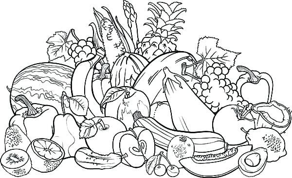 vegetable garden coloring pages vegetable coloring page fruits and ...