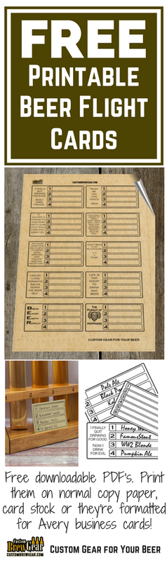 Get Free Printable Tasting Flight Cards The Downloadable Pdf Can Be Printed On Standard Paper Card Stock Or T Beer Flight Brewery Design Beer Tasting Parties