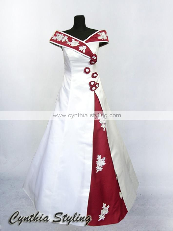 Images of White And Red Dresses - Reikian