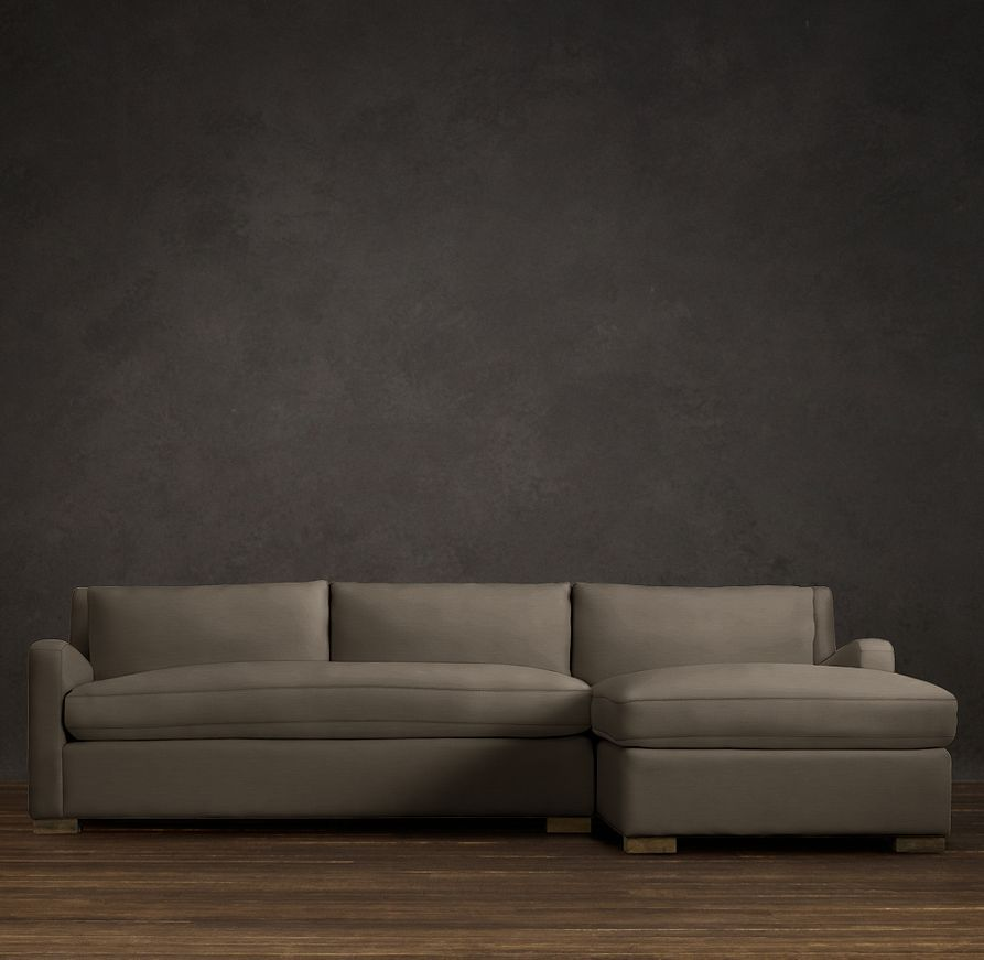 Belgian Slope Arm Upholstered Sofa Chaise Sectionals | Sectionals | Restoration Hardware