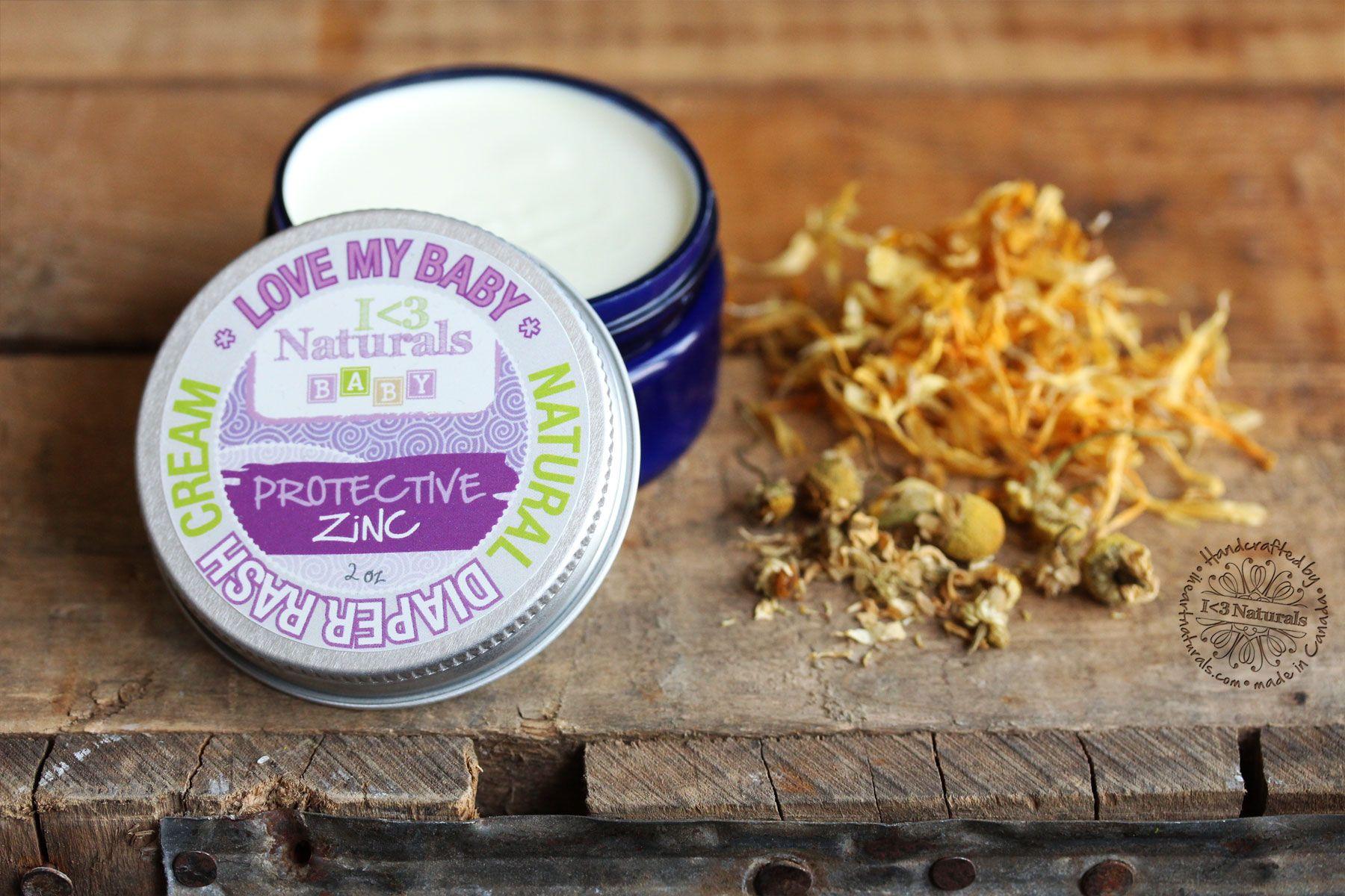 All natural zinc diaper rash cream natural skin care
