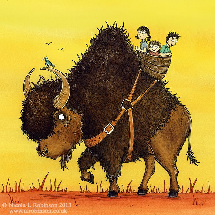 Bison Riding By Nicola L Robinson Childrens Book