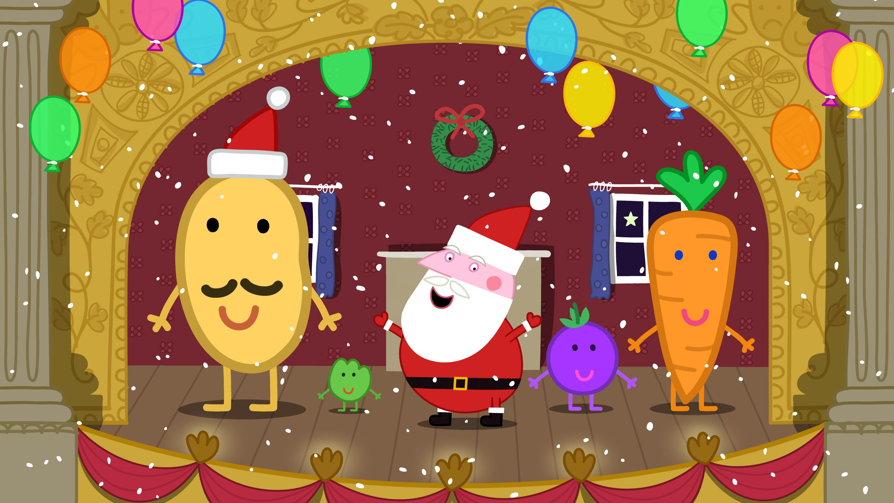 Mr Potato With Santa And Friends At The Christmas Show Peppa Pig