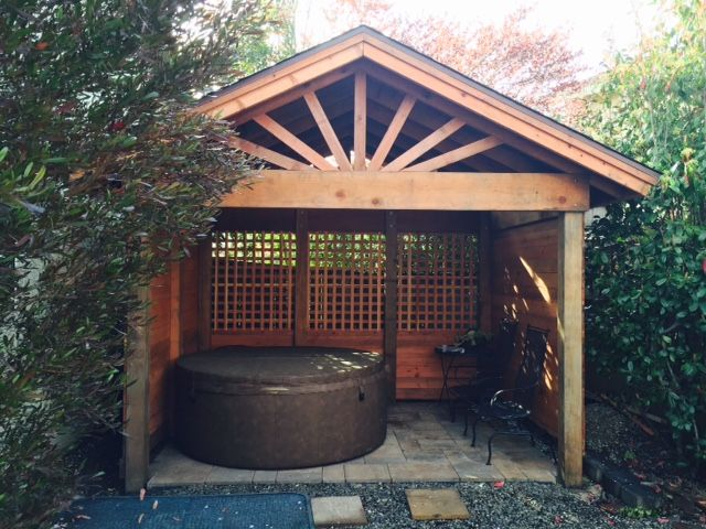 Gazebo With Gable Roof Building Plans Spa Enclosure