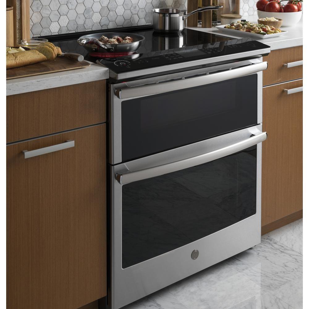 - GE Profile 6.6 Cu. Ft. Slide-In Double Oven Smart Electric Range