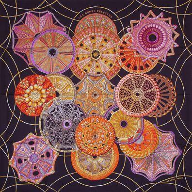 luxury-scarves.com 'Les Dômes Célestes', Annie Faivre. 2010
