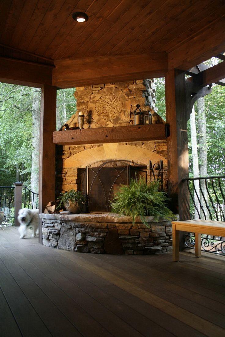 100 Amazing Outdoor Fireplace Designs @styleestate ... on Amazing Outdoor Fireplaces id=99132