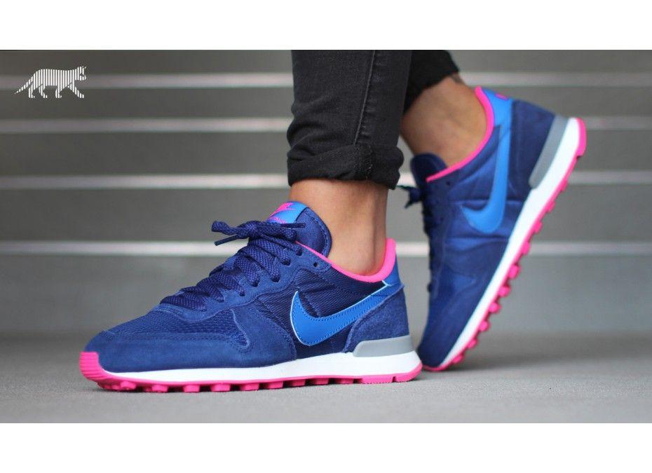 Nike wmns Internationalist (Deep Royal Blue / Hyper Cobalt - Hyper Pink)
