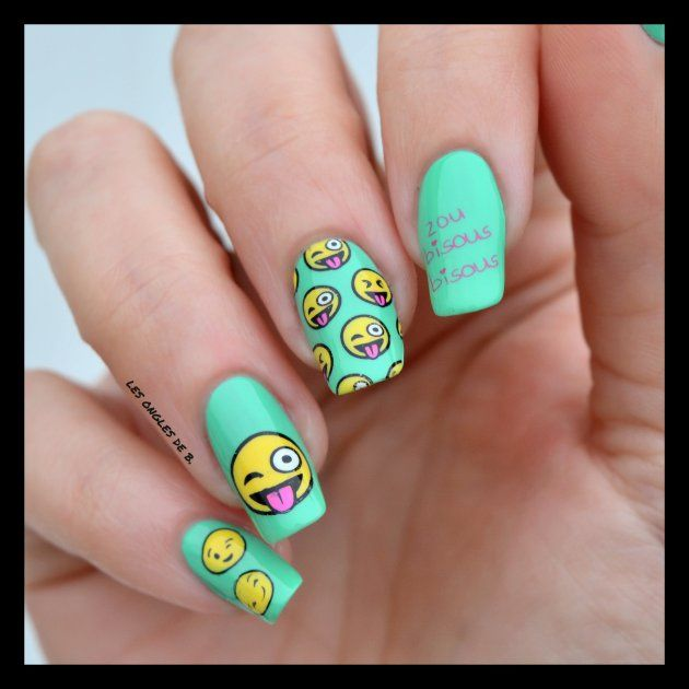 Smiley by Moyou London | Emoji nails, Emoji and Manicure
