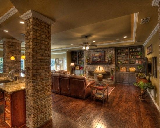 Opened Up Family Room And Kitchen Remodel In Colleyville Cheap Basement Remodel Basement Remodeling Remodel