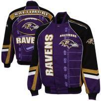 Baltimore Ravens Franchise Twill Jacket - Purple/Black/Gold