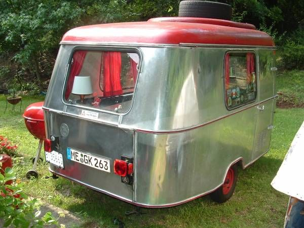 1968 Eriba Puck Wolf From Rear Vintage Vw Bus Vintage