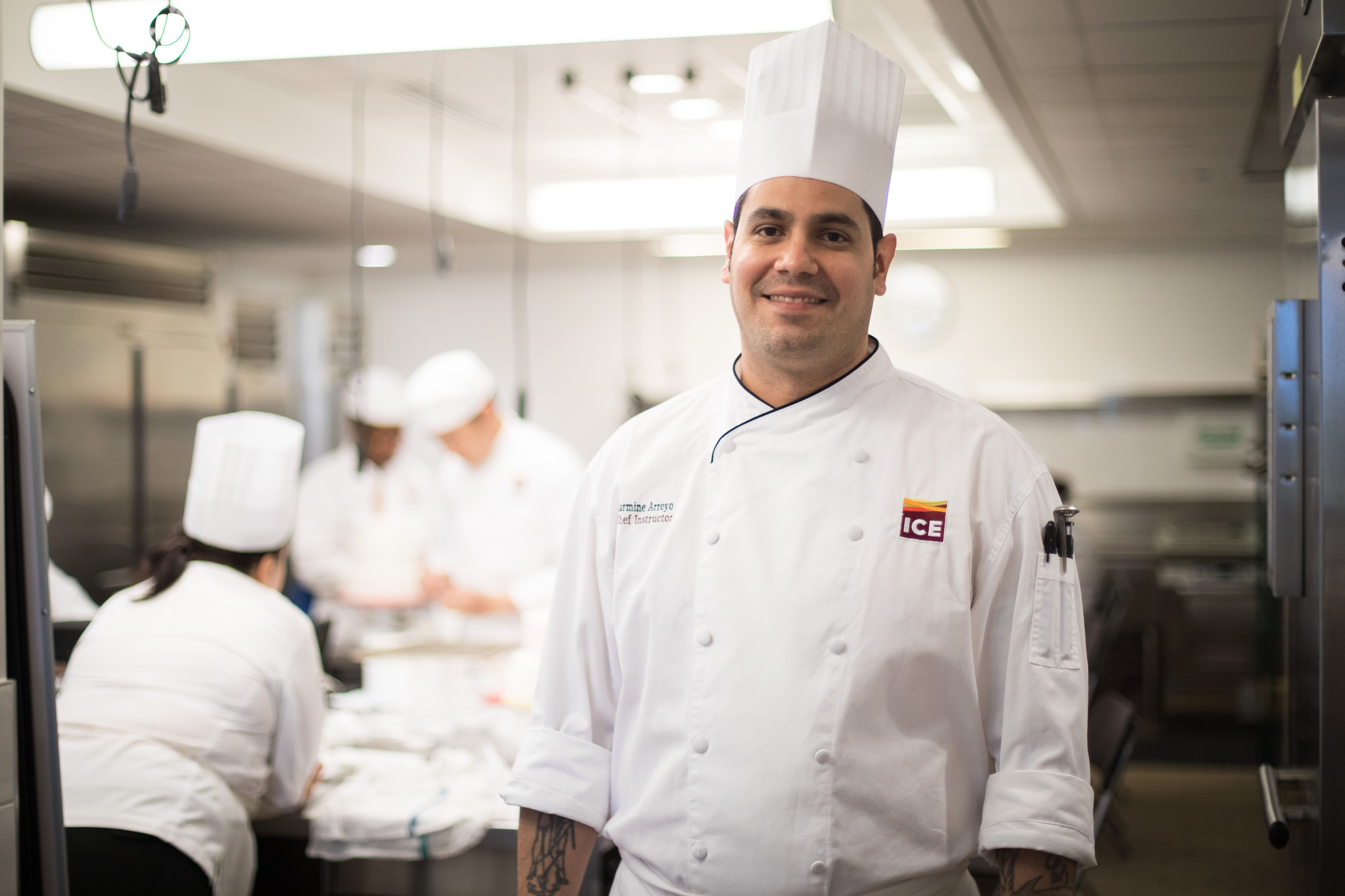 Chef Carmine One Of ICEs Newest Instructors Shared His Path From The Military To Acclaimed NYC Pastry Kitchens ICE Plus What He Thinks Is