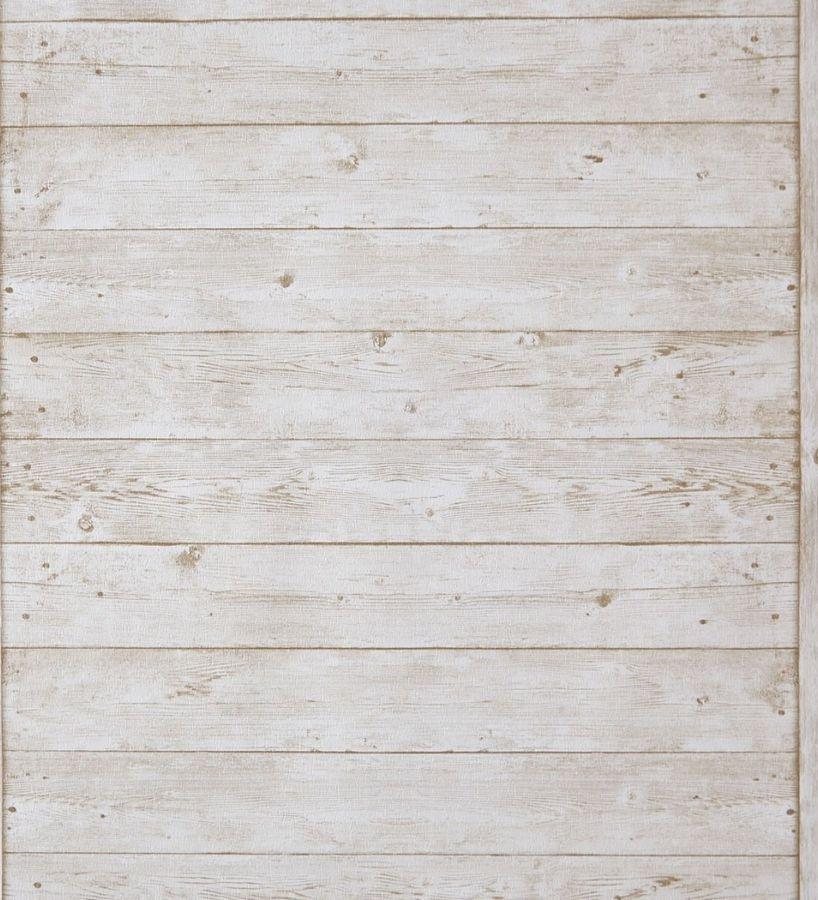 Papel pintado listones de madera marr n y blanco for Papel pintado madera blanca