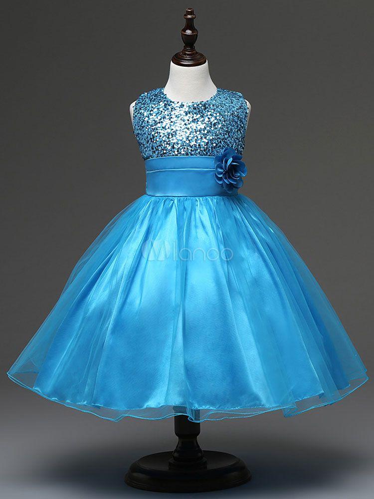 ee8858cf477 Flower Girl Dresses Rose Gold Tutu Sequin Princess Pageant Dress Kids Short  Social Party Dresses -