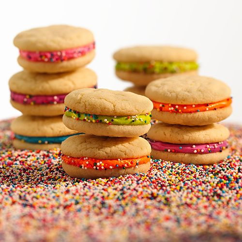 Cake-Batter Cookie Stackers